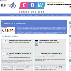 Page d'accueil- Espace Doc Web - Académie de Lyon