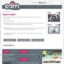 Espace emploi - Club de la Com Midi-Pyrénées