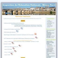 L'Espace Web de Mâcon Nord - Pédagogie au quotidien - Mathématiques