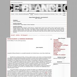 Espace Maurice Blanchot - www.blanchot.fr