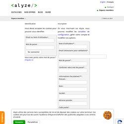 Espace membre - Alyze