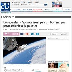 Le sexe dans l'espace n'est pas un bon moyen pour coloniser la galaxie