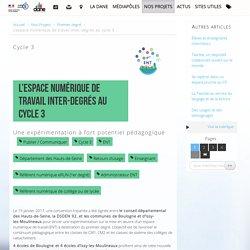 L'espace numérique de travail inter-degrés au cycle 3 - Délégation académique au numérique éducatif