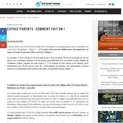 Espace parents : Comment fait on ? – ATD (Agir Tous pour la Dignité) Quart Monde