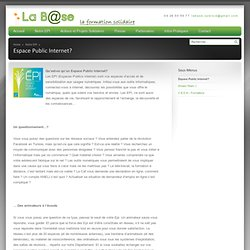 Usages p dagogiques arnaudperennes pearltrees for Espace public pdf