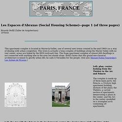 Les Espaces d'Abraxas (Social Housing Scheme) by Ricardo Bofill