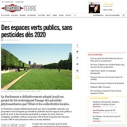 Des espaces verts publics, sans pesticides dès2020