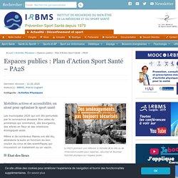 Espaces publics : Plan d'Action Sport Santé - PA2S