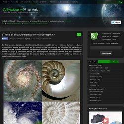 ¿Tiene el espacio-tiempo forma de espiral?