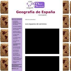 Los espacios de servicios - Geografía de España