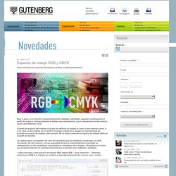 Espacios de trabajo RGB y CMYK