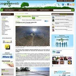 L'Espagne se met à l'énergie solaire H24