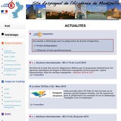 Site d'espagnol de l'Académie de Montpellier