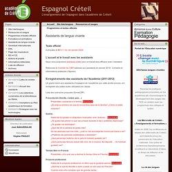 Espagnol Créteil » Assistants de langue vivante