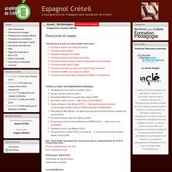 Espagnol Créteil » Ressources et usages