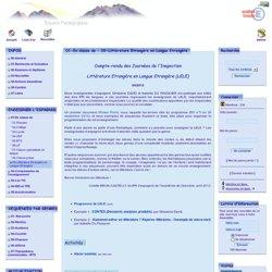 Espagnol - Académie de Grenoble - 01-En classe de - 09-Littérature Etrangère en Langue Etrangère
