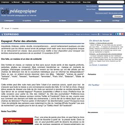 Espagnol: Parler des attentats