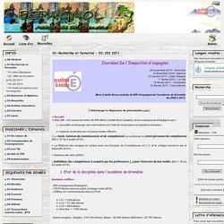 Espagnol - Académie de Grenoble - 01-Recherche et formation - 03-JDI 2011