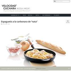 """Espaguetis a la carbonara de """"nata"""""""