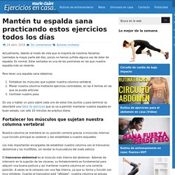 Mantén tu espalda sana practicando estos ejercicios todos los días - Ejercicios En Casa