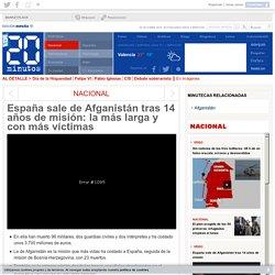 España sale de Afganistán tras 14 años de misión: la más larga y con más víctimas