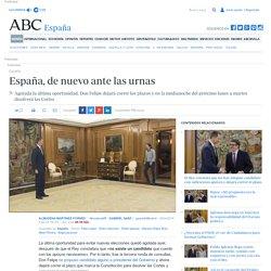 España, de nuevo ante las urnas