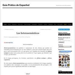 Guia Prático de Espanhol: Los heterosemánticos