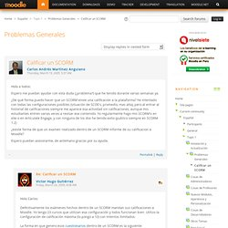 Español: Calificar un SCORM