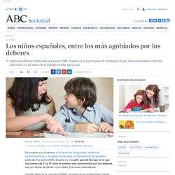 Los niños españoles, entre los más agobiados por los deberes