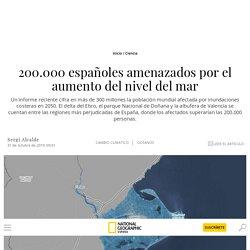 200.000 españoles amenazados por el aumento del nivel del mar