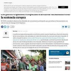Los jueces españoles empiezan a archivar desahucios tras la sentencia europea
