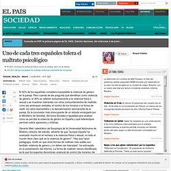 Uno de cada tres españoles tolera el maltrato psicológico