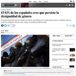 Día de la mujer: El 92% de los españoles cree que persiste la desigualdad de género