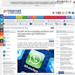 El 96% de los españoles prefiere usar una app antes que hablar por teléfono