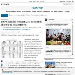 Jornada laboral: Los españoles trabajan 280 horas más al año que los alemanes