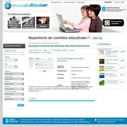 Guía para a creación de materiais educativos interactivos