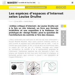 Les espèces d'espaces d'Internet selon Louise Drulhe