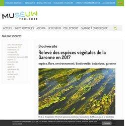 biodiversité des espèces végétales de la Garonne