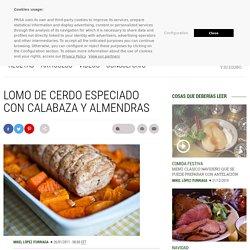 Lomo de cerdo especiado con calabaza y almendras