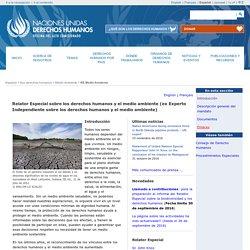 Relator Especial sobre los derechos humanos y el medio ambiente