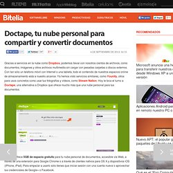 Doctape, una nube personal especializada en documentos