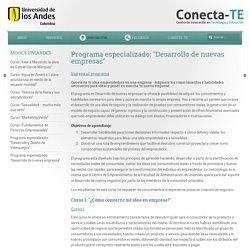 """Programa especializado: """"Desarrollo de nuevas empresas"""" - Conecta-TE"""