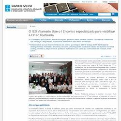 O IES Vilamarín abre o I Encontro especializado para visibilizar a FP en hostalaría