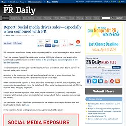 Report: Social media drives sales—especially when combined with PR