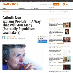Catholic Nun Explains Pro-Life In A Way That Will Stun Many Republican Lawmakers