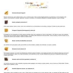 Especias, Condimentos y Semillas