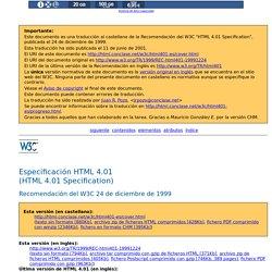 Especificación HTML 4.01