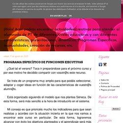 PROGRAMA ESPECÍFICO DE FUNCIONES EJECUTIVAS