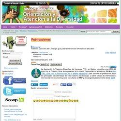 Trastorno Específico del Lenguaje: guía para la intervención en el ámbito educativo