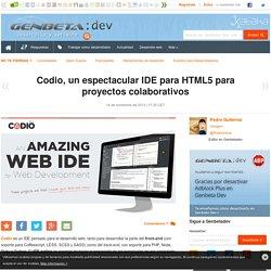 Codio, un espectacular IDE para HTML5 para proyectos colaborativos